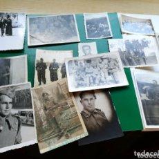 Militaria: LOTE DE 14 FOTOS MILITARES. AÑOS 40- 50. CON SELLO POR DETRÁS ALGUNAS DE ALICANTE. Lote 174248409