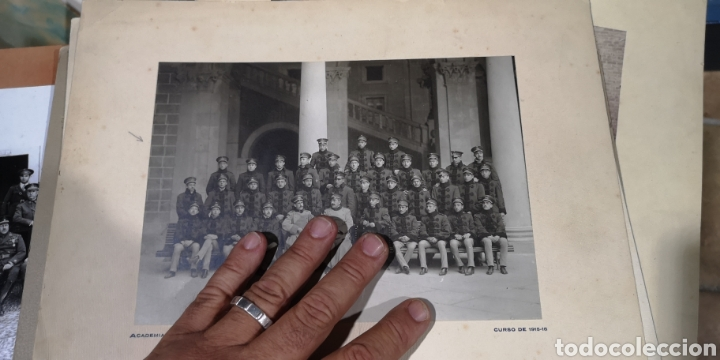 ANTIGUA FOTO DE LA ACADEMIA DE INFANTERÍA CURSO 1915 A 1916 (Militar - Fotografía Militar - Otros)