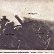 Militaria: CERCO BATERIA ITALIANA CTV 1 ENERO 1938 PUERTAS TERUEL FOTO HISTORICA GUERRA CIVIL. Lote 174528287