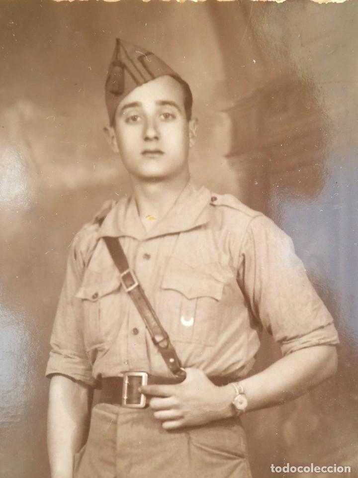 FOTO J. BERNAL CEUTA DE UN SOLDADO DE REGULARES (Militar - Fotografía Militar - Otros)