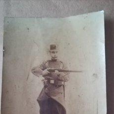 Militaria: ANTIGUA FOTOGRAFIA MILITAR, PRINCIPIO DEL SIGLO XX. Lote 175416415