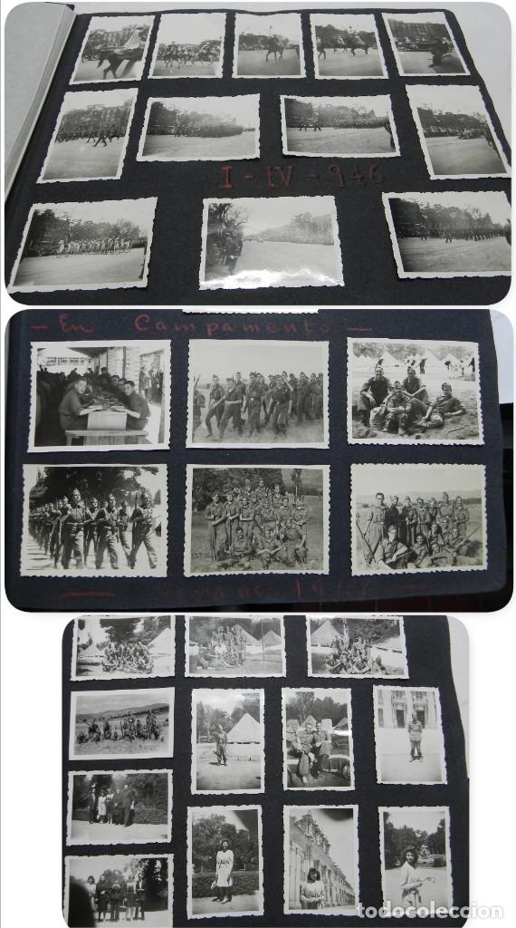 ALBUM FOTOGRAFICO DEL DESFILE DE LA VICTORIA DE 1946, GUARDIA MORA DE FRANCO, CAMPAMENTO DE MILICIAS (Militar - Fotografía Militar - Otros)