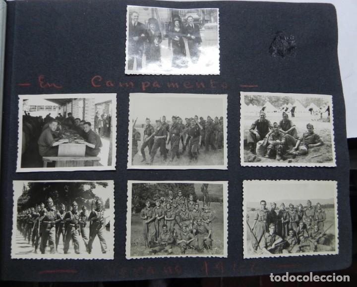 Militaria: ALBUM FOTOGRAFICO DEL DESFILE DE LA VICTORIA DE 1946, GUARDIA MORA DE FRANCO, CAMPAMENTO DE MILICIAS - Foto 9 - 175567657