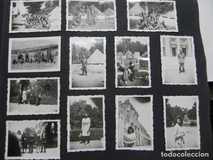 Militaria: ALBUM FOTOGRAFICO DEL DESFILE DE LA VICTORIA DE 1946, GUARDIA MORA DE FRANCO, CAMPAMENTO DE MILICIAS - Foto 11 - 175567657