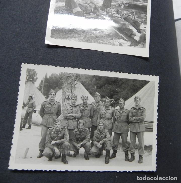 Militaria: ALBUM FOTOGRAFICO DEL DESFILE DE LA VICTORIA DE 1946, GUARDIA MORA DE FRANCO, CAMPAMENTO DE MILICIAS - Foto 12 - 175567657