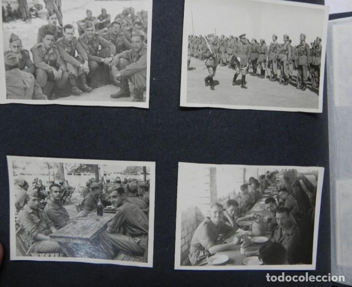 Militaria: ALBUM FOTOGRAFICO DEL DESFILE DE LA VICTORIA DE 1946, GUARDIA MORA DE FRANCO, CAMPAMENTO DE MILICIAS - Foto 13 - 175567657