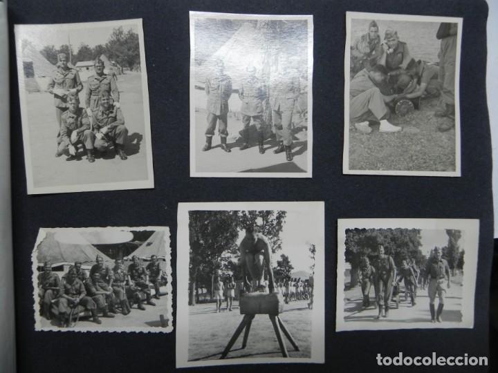 Militaria: ALBUM FOTOGRAFICO DEL DESFILE DE LA VICTORIA DE 1946, GUARDIA MORA DE FRANCO, CAMPAMENTO DE MILICIAS - Foto 15 - 175567657