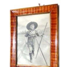 Militaria: FOTOGRAFÍA BOY SCOUTS.- MEDIDAS APROXIMADAS 27 X 70 CM MARCO. Lote 175938505