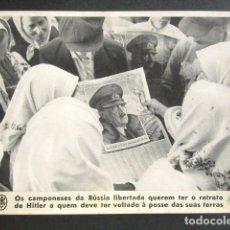 Militaria: CAMPESINOS DE RUSIA LIBERADA QUIEREN EL RETRATO DE HITLER. II GUERRA MUNDIAL. . Lote 176014225