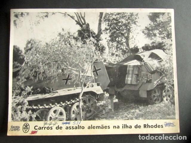 CARROS DE ASALTO ALEMANES EN LA ISLA DE RODAS. ALEMANIA NAZI. II GUERRA MUNDIAL. (Militar - Fotografía Militar - II Guerra Mundial)
