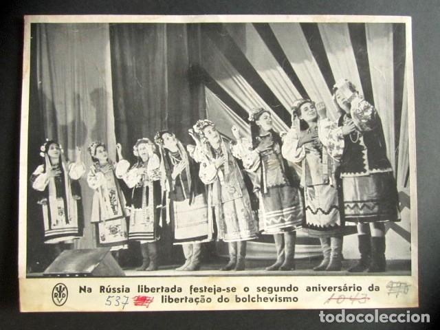 LA RUSIA LIBERADA FESTEJA EL II ANIVERSARIO DE LA LIBERACIÓN DEL BOCHEVISMO. II GUERRA MUNDIAL. (Militar - Fotografía Militar - II Guerra Mundial)