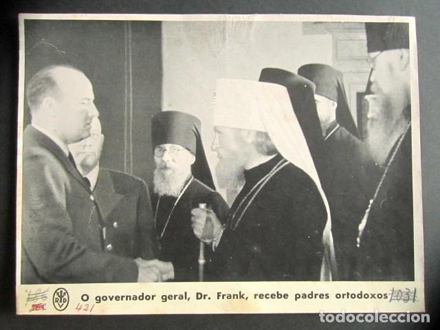GOBERNADOR GENERAL DR. FRANK RECIBE A PADRES ORTODOXOS. ALEMANIA NAZI. II GUERRA MUNDIAL. (Militar - Fotografía Militar - II Guerra Mundial)