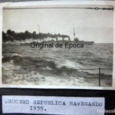 Militaria: (JX-190964)FOTOGRAFÍA DE ÁLBUM PERSONAL DE MARINERO DEL CRUCERO MENDEZ NUÑEZ EN EL PERIODO 1935-1937. Lote 176257608