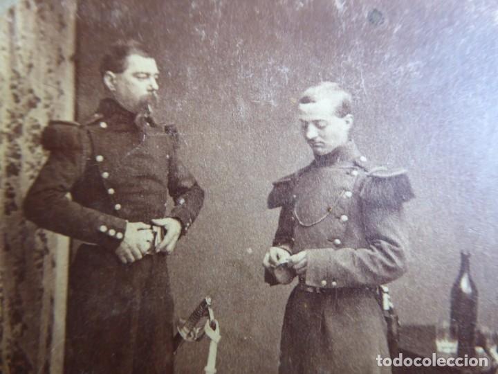 FOTOGRAFÍA SOLDADOS DEL EJÉRCITO ESPAÑOL. SIGLO XIX (Militar - Fotografía Militar - Otros)