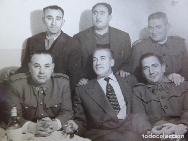 FOTOGRAFÍA OFICIALES INGENIEROS DEL EJÉRCITO ESPAÑOL. CORUÑA 1955 (Militar - Fotografía Militar - Otros)