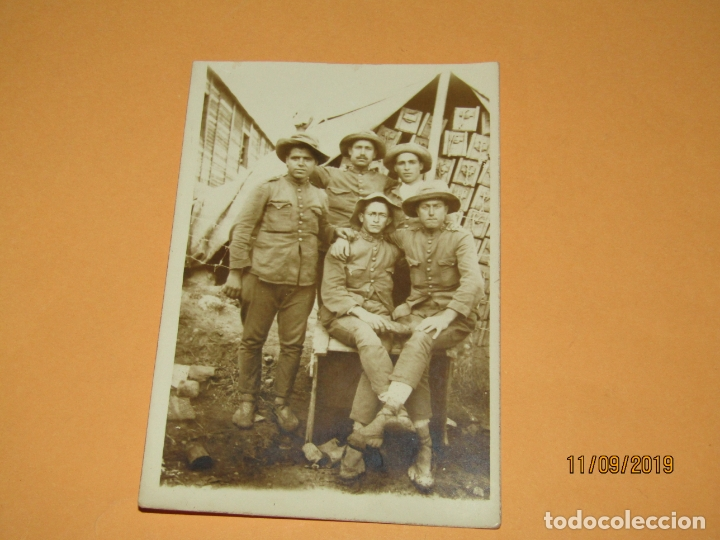 Militaria: Antigua Fotografía Original Campaña del RIF o de MELILLA - Año 1920s. - Foto 3 - 176279138