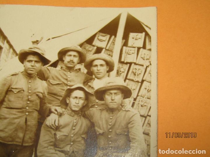 Militaria: Antigua Fotografía Original Campaña del RIF o de MELILLA - Año 1920s. - Foto 4 - 176279138