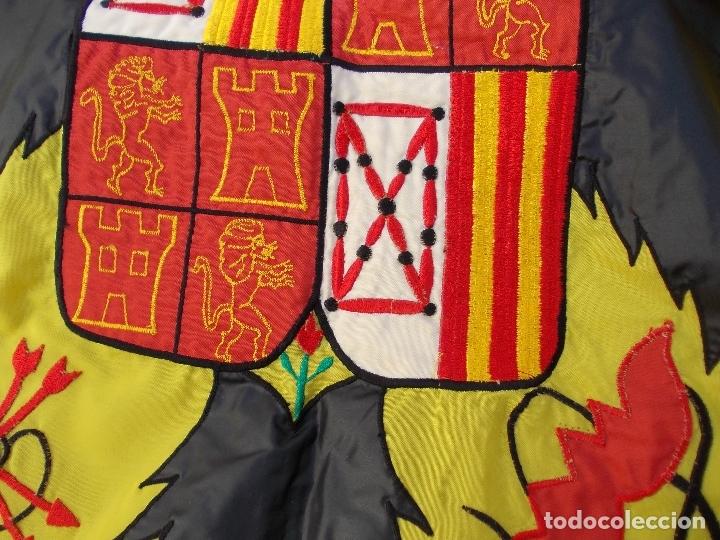 Militaria: Bandera de España Bordada con aguila 100% Nylon 128X190 - Foto 3 - 288574278