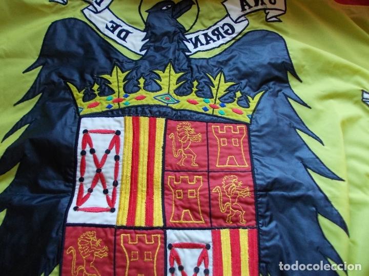 Militaria: Bandera de España Bordada con aguila 100% Nylon 128X190 - Foto 4 - 288574278