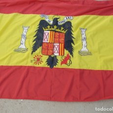 Militaria: BANDERA DE ESPAÑA BORDADA CON AGUILA 100% NYLON 128X190. Lote 176432722