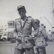 Militaria: FOTOGRAFÍA SOLDADO DEL EJÉRCITO ESPAÑOL. SANTA CRUZ DE LA PALMA. Lote 176455662