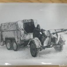Militaria: FOTOGRAFIA VEHÍCULO ALEMÁN CON CAÑON. Lote 176554669