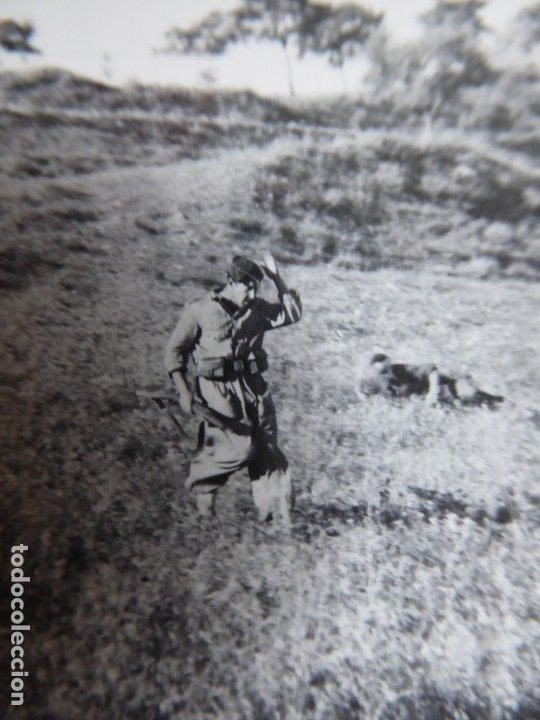 FOTOGRAFÍA SOLDADOS DEL EJÉRCITO NACIONAL. CENSURA FET Y JONS (Militar - Fotografía Militar - Guerra Civil Española)