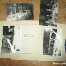 Militaria: LOTE FOTOS BARCELONA REPORTAJE BANQUETE CELEBRFACION MILITAR JUNTO A BUSTO DE FRANCO. Lote 177035738