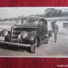 Militaria: FOTOGRAFÍA AUTOMÓVIL EJERCITO DE TIERRA AÑOS 40. Lote 177209977