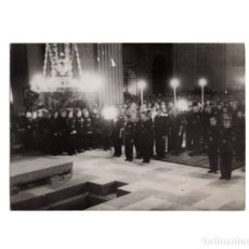 Militaria: EL ESCORIAL.(MADRID).- FALANGE. LA ANTIGUA GUARDIA DE PALMA DE PLATA. ENTIERRO JOSE ANTONIO.16X11,5. Lote 177211183