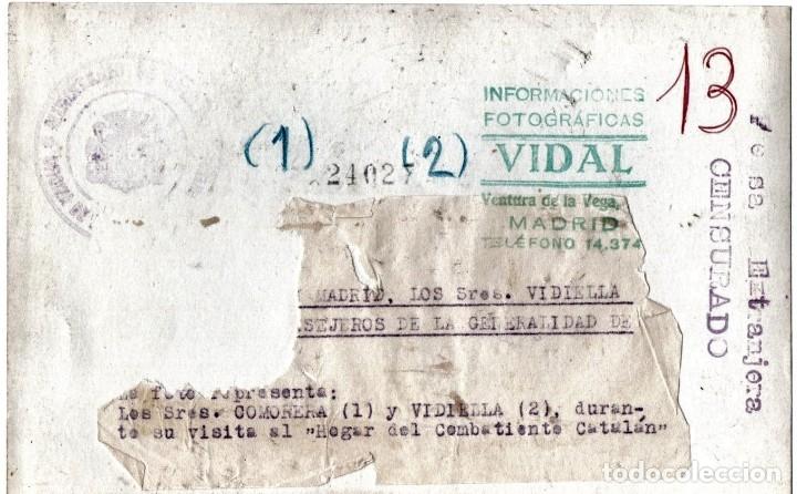 Militaria: REPUBLICA,GUERRA CIVIL ESPAÑOLA,FOTOGRAFIA HOGAR DEL COMBATIENTE CATALAN,MADRID,EJERCITO POPULAR - Foto 2 - 177408918