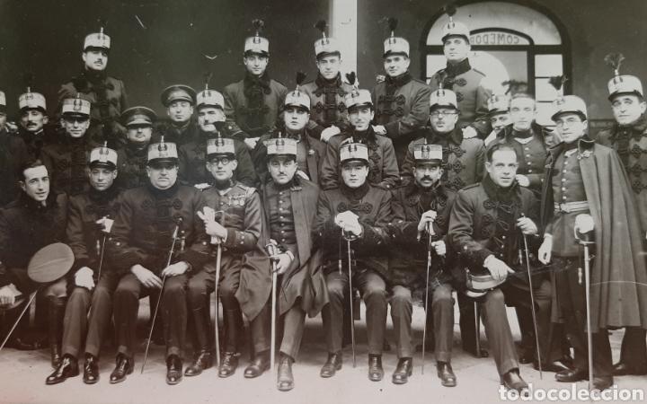 MILITARES EN EL INTERIOR DE CAPITANÍA GENERAL DE VALLADOLID, ÉPOCA ALFONSO XIII. POSTAL FOTOGRÁFICA. (Militar - Fotografía Militar - Otros)