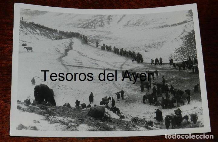 FOTOGRAFIA DEL FRENTE DE TERUEL, PLENA GUERRA CIVIL, MIDE 18 X 13 CMS. (Militar - Fotografía Militar - Guerra Civil Española)