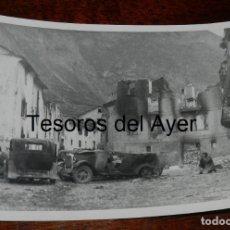 Militaria: FOTOGRAFIA DE CIUDAD DESTRUIDA DURATE LA GUERRA CIVIL, MIDE 18 X 13 CMS.. Lote 177455273