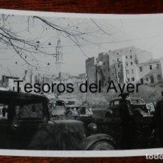 Militaria: FOTOGRAFIA DE TROPAS NACIONALES DURANTE LA GUERRA CIVIL, MIDE 18 X 13 CMS.. Lote 177455897