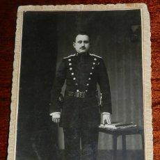Militaria: FOTOGRAFIA DE GUARDIA CIVIL, EPOCA DE ALFONSO XIII, ESCRITA EN ZARAGOZA EN 1921, TAMAÑO POSTAL.. Lote 177705057