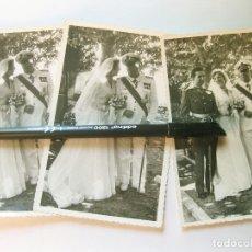 Militaria: 3 FOTOGRAFÍAS DE UN MARINO CONDECORADO Y UN TENIENTE DEL EJÉRCITO DE TIERRA DE GALA. Lote 177737974