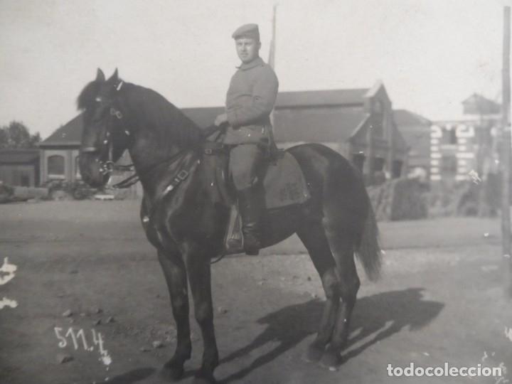 SOLDADO IMPERIALE ALEMANE CON GEWEHR 98 A CABALLO . II REICH (Militar - Fotografía Militar - I Guerra Mundial)