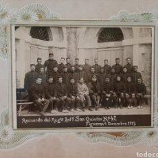 Militaria: RECERDO DEL REGIMIENTO INFANTERÍA SAN QUINTÍN 47 . FIGUERAS 4 DICIEMBRE 1917.. Lote 178053632