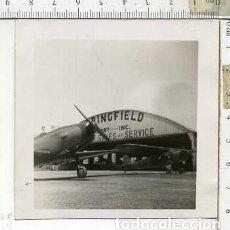 Militaria: FOTOGRAFIA DE UNA AVION FAIRCHILD PT-19 FABRICADO POR AERONICA JULIO 1946. Lote 178057069