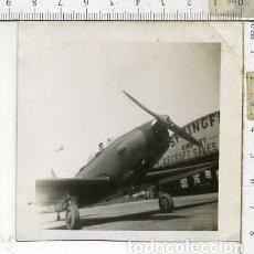 Militaria: FOTOGRAFIA DE UNA AVION FAIRCHILD PT-19 FABRICADO POR AERONICA JULIO 1946. Lote 178057117