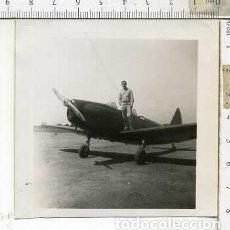Militaria: FOTOGRAFIA DE UNA AVION PT 19 Y PILOTO JULIO 1946. Lote 178058619