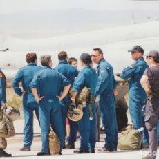 Militaria: FANTÁSTICA FOTOGRAFÍA. BATALLÓN MILITARES PILOTOS ESCUADRÓN DEL EJERCITO DEL AIRE ESPAÑOL.. Lote 178125043
