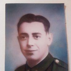 Militaria: ANTIGUO RETRATO FOTOGRAFIA COLOREADA SR. DE UNIFORME,EN PAPEL FUJIFILM CRYSTAL DE 10 X 7. Lote 178306241
