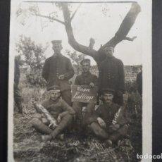 Militaria: SOLDADOS IMPERIALES ALEMANES CON NUESTROS FAVORITOS 18X65 CMS Y RETARDADA . II REICH. AÑOS 1914-18. Lote 178306643