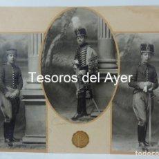 Militaria: 3 FOTOGRAFIAS DE HUSAR, REGIMIENTO DE CABALLERIA HUSARES DE PAVÍA, PERIODO 1909-1931, FOTO PADRO, MA. Lote 178636386