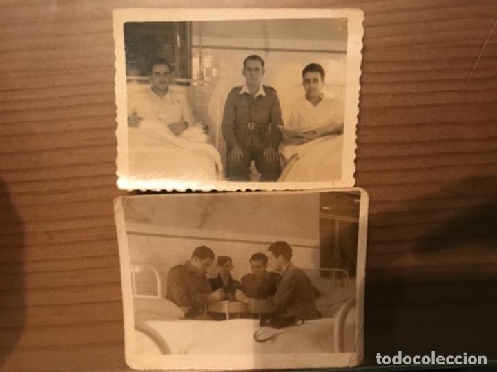 ANTIGUAS FOTOGRAFÍAS MILITARES SOLDADOS HOSPITAL GÓMEZ ULLA MADRID AÑOS 50 (Militar - Fotografía Militar - Otros)