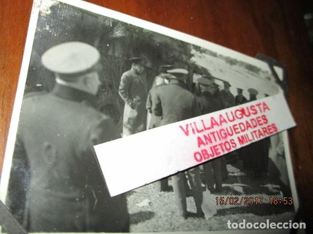 FOTO ORIGINAL E INEDITA EN PLENA GUERRA CIVIL CORONELES Y OFICIALES REPUBLICA ZONA EBRO (Militar - Fotografía Militar - Guerra Civil Española)
