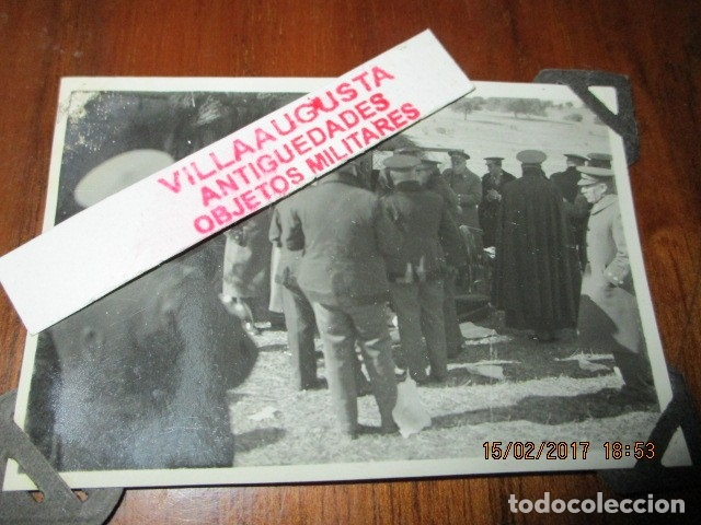 Militaria: FOTO ORIGINAL E INEDITA EN PLENA GUERRA CIVIL CORONELES Y OFICIALES REPUBLICA ZONA EBRO - Foto 2 - 178870477