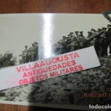 Militaria: FOTO ORIGINAL EN PLENA GUERRA CIVIL CORONELES Y OFICIALES FRENTE CATALUÑA CENSURA MILITAR. Lote 178870617